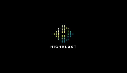 HighBlast--technology-logo-design