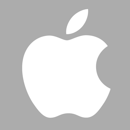 Stylish apple-logo