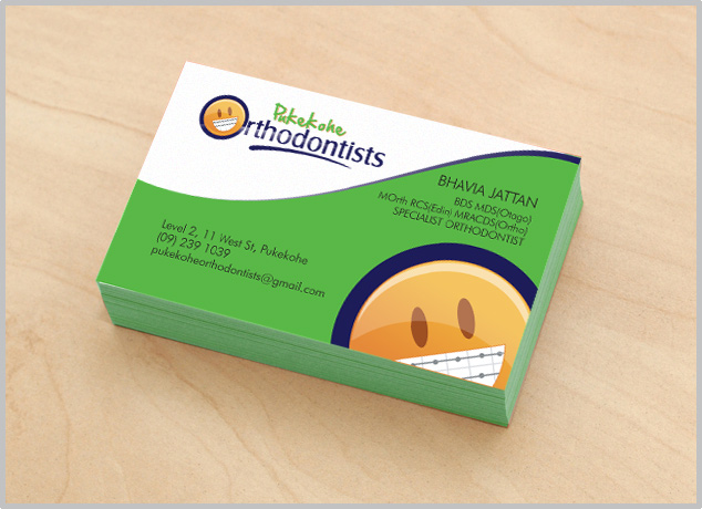 Custom professional business card design for australian corporate medical and orthodontists creative card reheart Images