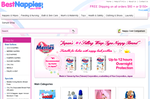BestNappies.co.nz - Best Dynamic Website designed by LogoPeople