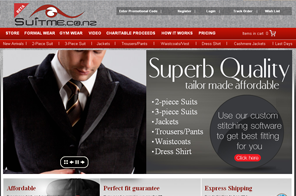 SuitMe NZ- Inspiring Dynamic Website design by LogoPeople