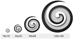 Koru icon design for New zealand software company