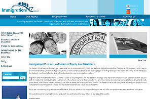 Immigration NZ - Inspiring Website design by LogoPeople