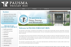 Pausmawroughtiron - Creative Website design by LogoPeople