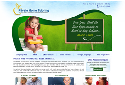 Web design for Privatehometutoringservices by LogoPeople Australia