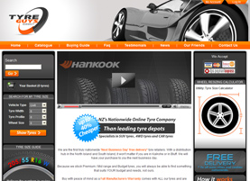 Tyreguys - creative Dynamic Website designed by LogoPeople